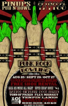punk rock bowling flyer 2 by bmansnuggles