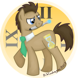 Doctor Whooves Badge by bibliodragon