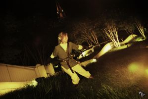 Mowing the lawn, Link style by voodoo-cosplay