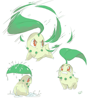 [Day 26] Chikorita by PinkGermy