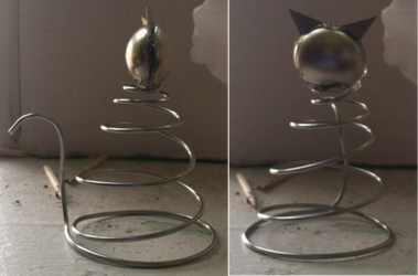 Small Spiral Cat Sculpture by QuirkyBrainiac