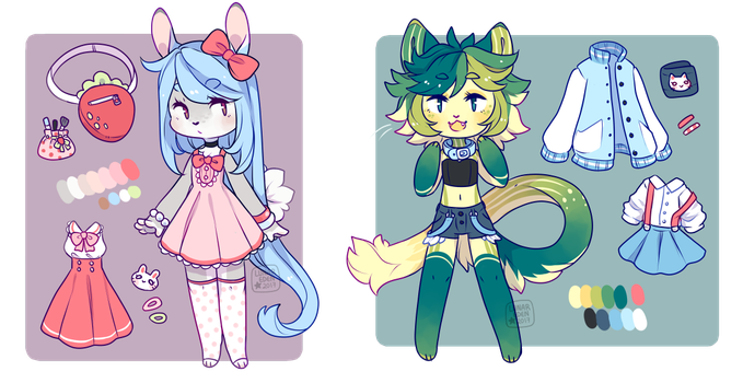 Re-Homing Adopts - Anthro Babies (Closed) by LunarAdopts