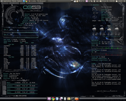 Conky empowered desktop by laserbeam3