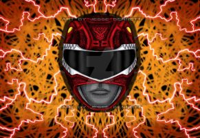Red Ranger Mighty Morphin by blueliberty