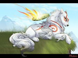 Watchful Amaterasu - Okami by frisket17
