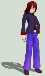 MMD Newcomer - Pokemon Rival Silver by shadow-fox1221