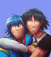 DRAMAtical Murder: Aoba Seragaki and Ren by witch-girl-pilar