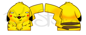 Doublesided Pikachu by JK-Studio