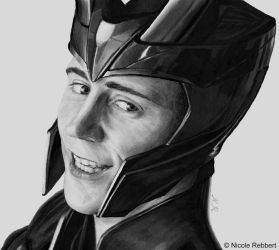 Loki (markers - first attempt) by Quelchii