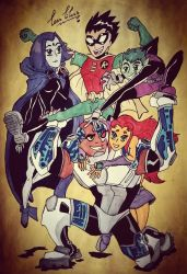 Happy 15th anniversary Teen Titans by nymeriadire