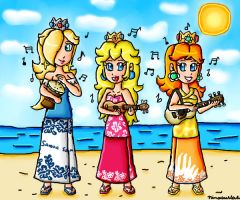 Beach musicians by ninpeachlover