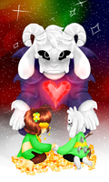 [Ufp] Asriel And Chara by evillovebunny500