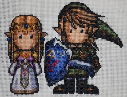 Link and Zelda by Magairlin89