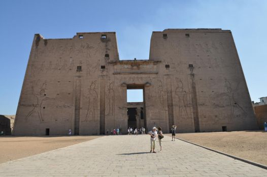 The Temple of Horus by Shadamachaeon