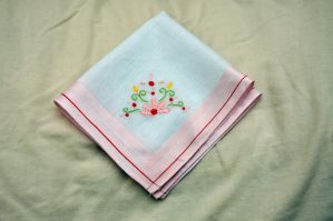 Flowers Hankie by VickitoriaEmbroidery