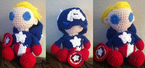 Captain America - Amigurumi by theunknownsoul