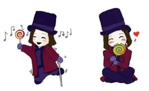 chibi willy wonka by chibipandora