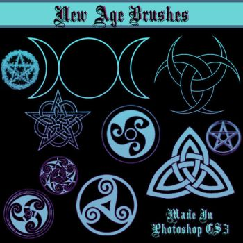 New Age Goddess Symbol Brushes by dollieflesh-stock