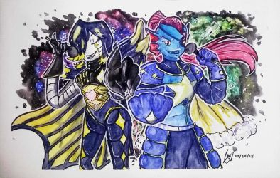 Mettaton and Undyne OUTERTALE by imatrashcan2