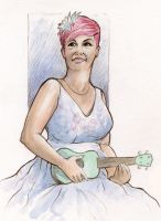 Ukulele Girl by MJBivouac