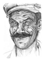 Man with a mustache by Giric