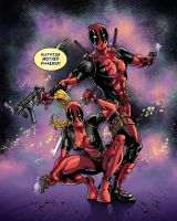Deadpool and Lady Deadpool by sonicboom35
