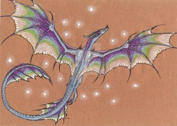 Dragon of northen lights by Rykhers