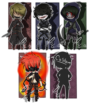 Creepypasta Adopts - Closed by Decora-Adopts
