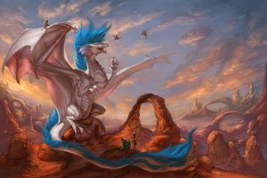 Ambient Desert Evening by The-SixthLeafClover