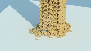 Rigid Body Tower Simulation by blenderednelb
