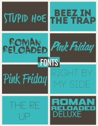 Nicki Minaj Fonts by BMaraj
