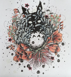 Totoro Amongst the Flowers by Kuriuss
