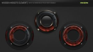 Wooden Widget Element PSD by NishithV