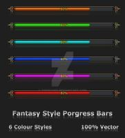 Fantasy Style Progress Bars by Tooschee