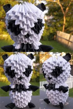 3D Origami - Panda (Revisit) by Jobe3DO