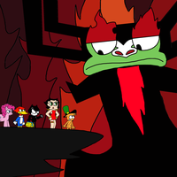 Crossover characters confronts Aku by MarcosPower1996