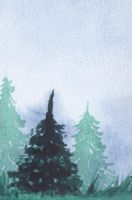 Pine trees  (VI) by lifeislikeajoke
