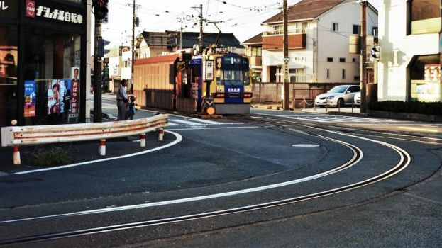 The most acute railway curve in Japan by Furuhashi335