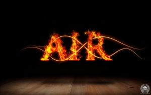 Fire Typography by richworks