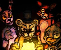 Five Nights at Freddy's by mariogamesandenemies