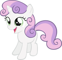 Cheerful Sweetie Belle by RyantheBrony