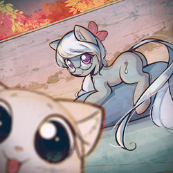 Cat by mirroredsea