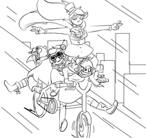...THEY SEE ME ROLLIN- (LINEART) by SkeleScene