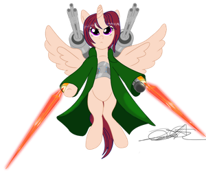 Red Cap the Alicorn Raptor by StormyTheTrooper