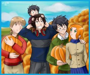 Marauders in the Pumpkin Patch by GuardianBellaluna