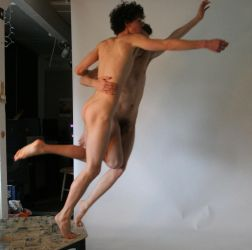 Jumping Nude Men by TheMaleNudeStock