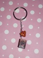 Harry Potter Book Keychain by ichigoluv