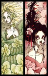Orchids Bookmarks by KmyeChan