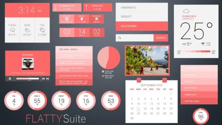 Flatty Suite for xwidget by Jimking