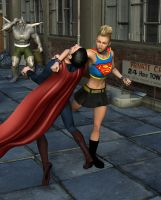 Punk Supergirl vs Superman by MickLee99